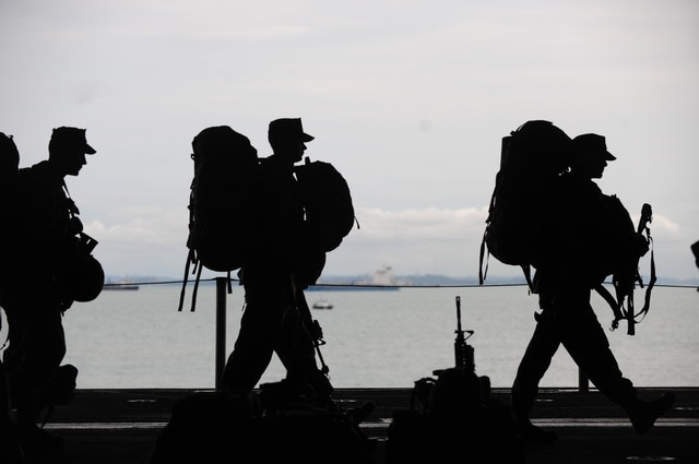 soldiers departing for deployment