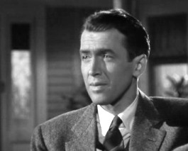 "Photo of James Stewart as George Bailey in ""It's a Wonderful Life"""
