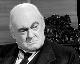 "Close-up of Lionel Barrymore as Mr. Potter in ""It's a Wonderful Life"""